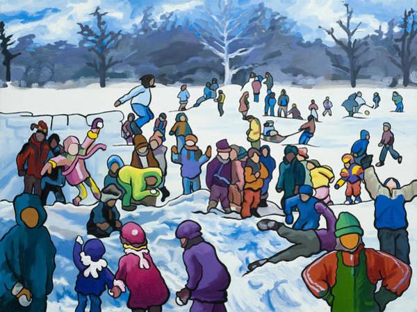Painting - Winter Playground by Lynn Hansen