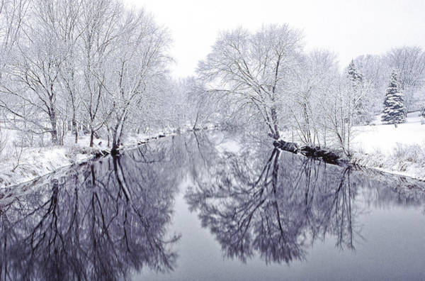 Snowstorm Wall Art - Photograph - Winter Reflections by Andrew Soundarajan