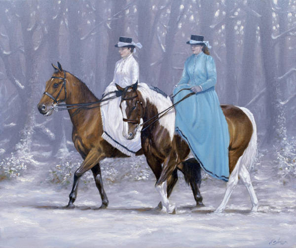 Wall Art - Painting - Winter Ride by John Silver
