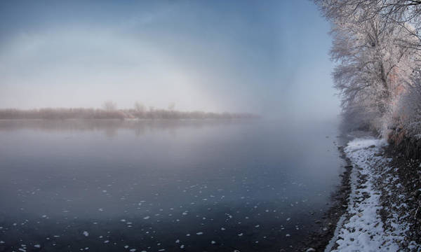 Photograph - Winter River Light by Leland D Howard