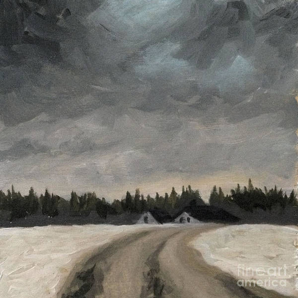 Painting - Winter Road by Ric Nagualero