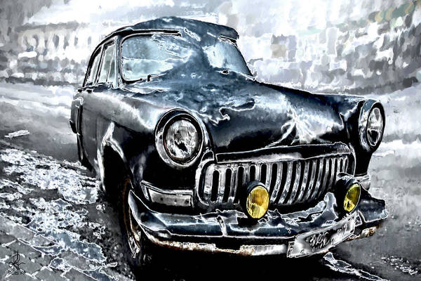 Digital Art - Winter Road Warrior by Pennie McCracken