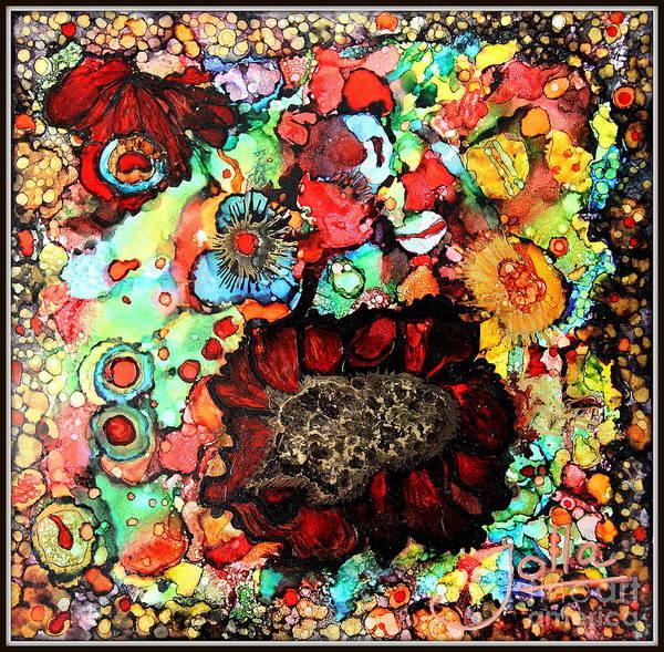 Painting - Winter Rose.. by Jolanta Anna Karolska
