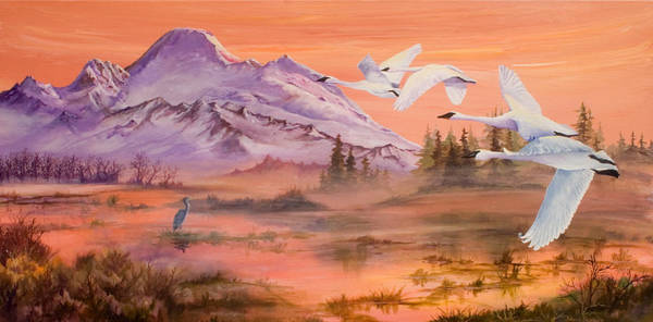 Skagit Valley Painting - Winter Sanctuary by Sherry Shipley