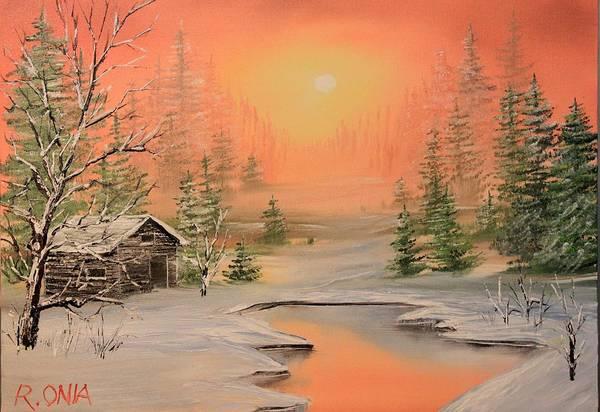 Sand Creek Painting - Winter Scene 2 by Remegio Onia