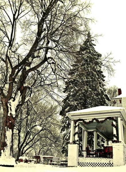 Jolly Holiday Photograph - Winter Scene  by Chris Berry