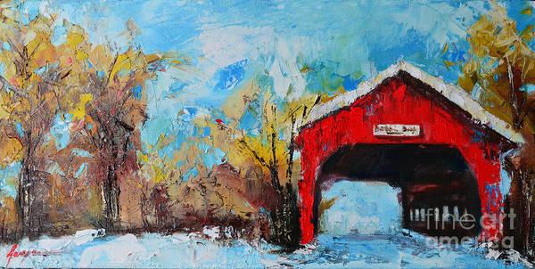 Painting - Winter Scene Landscape by Patricia Awapara