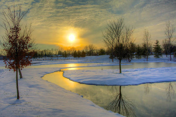 Wall Art - Photograph - Winter Scene by William Wetmore
