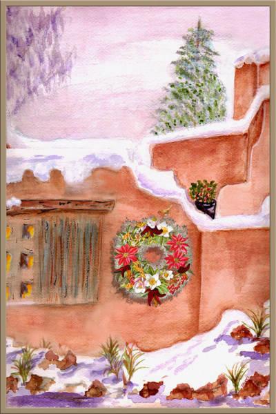 Wall Art - Mixed Media - Winter Season Adobe by Paula Ayers