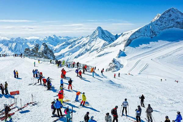 Winter Ski Resort Hintertux, Tirol, Austria Art Print by Mbbirdy