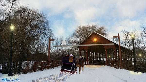 Digital Art - Winter Sleigh Ride by Michael Rucker