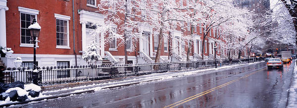 Greenwich Village Photograph - Winter, Snow In Washington Square, Nyc by Panoramic Images