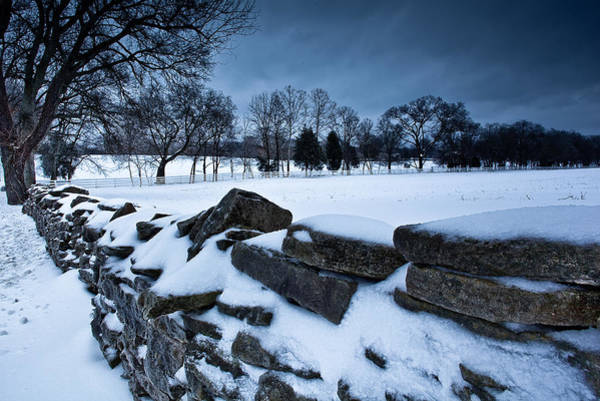 Photograph - Winter Snow On Slave Wall by John Magyar Photography