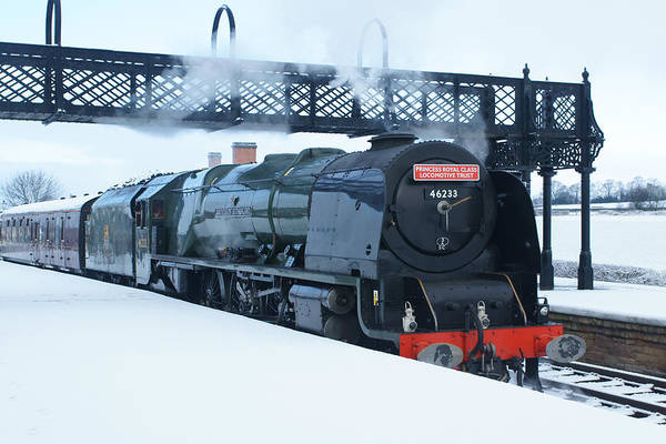 Photograph - Winter Steam At Swanwick by David Birchall