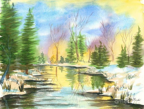 Winter Stillness Art Print