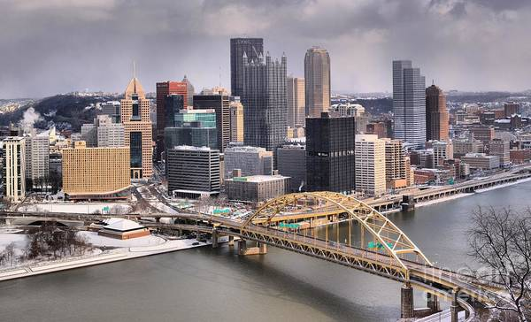Photograph - Winter Storms Over Pittsburgh In 2015 by Adam Jewell