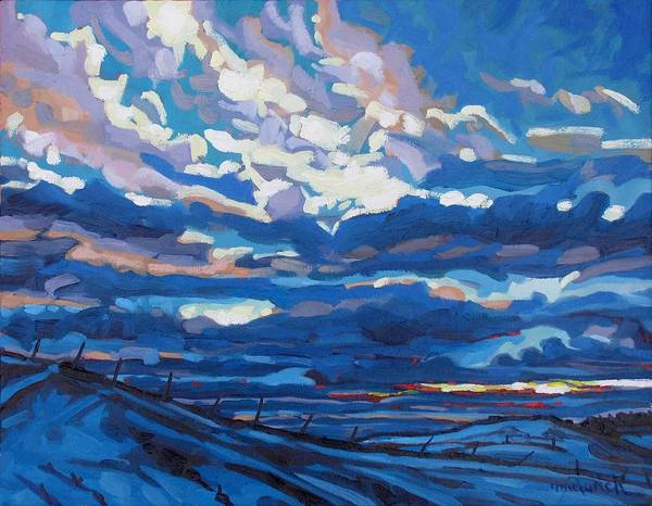 Birder Painting - Winter Stratocumulus by Phil Chadwick