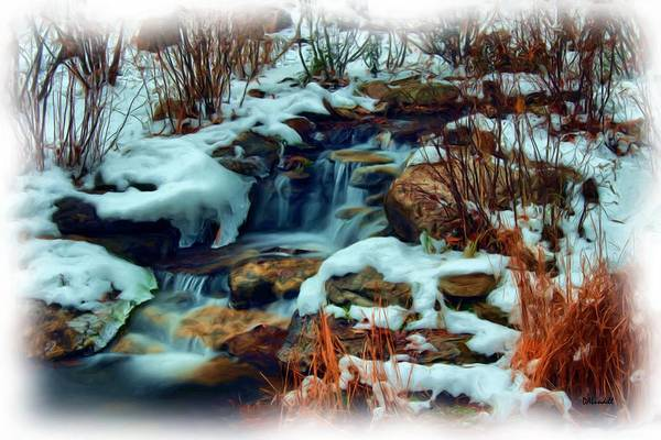 Frozen River Digital Art - Winter Stream by Dennis Lundell
