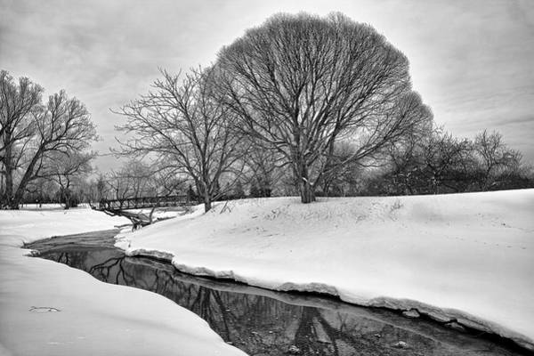 Paysage Photograph - Winter Stream by Eunice Gibb