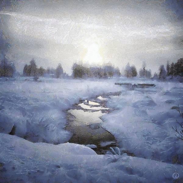 Wall Art - Digital Art - Winter Stream by Gun Legler