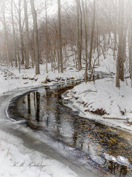 Wall Art - Photograph - Winter Stream Reflection by Keith Hutchings
