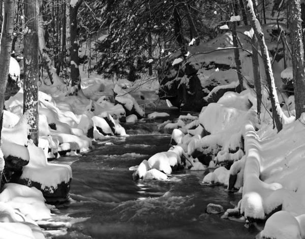 Photograph - Winter Stream Win 67 by G L Sarti