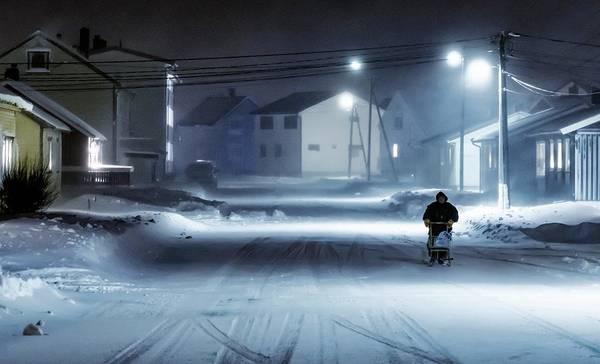 Norway Photograph - Winter Street by Mette Caroline Str?ksnes