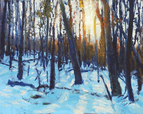 Wall Art - Painting - Winter Sun by Armand Cabrera