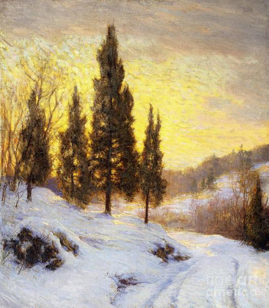 Sun Set Painting - Winter Sundown by Walter Launt Palmer