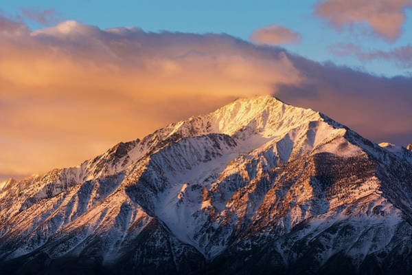 Bishop Photograph - Winter Sunrise On Mount Tom, Inyo by Russ Bishop