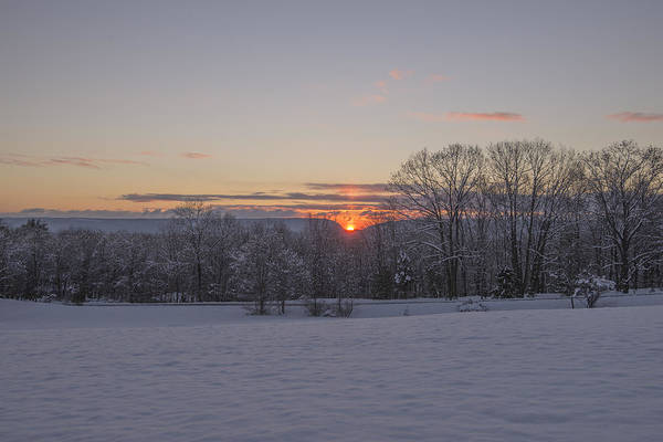 Wall Art - Photograph - Winter Sunrise Over Delaware Water Gap by Dave Sandt
