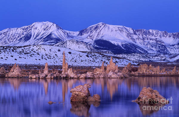 Photograph - Winter Sunrise Over South Tufas Mono Lake State Park California by Dave Welling