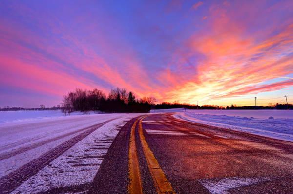 Wall Art - Photograph - Winter Sunset by Anna-Lee Cappaert