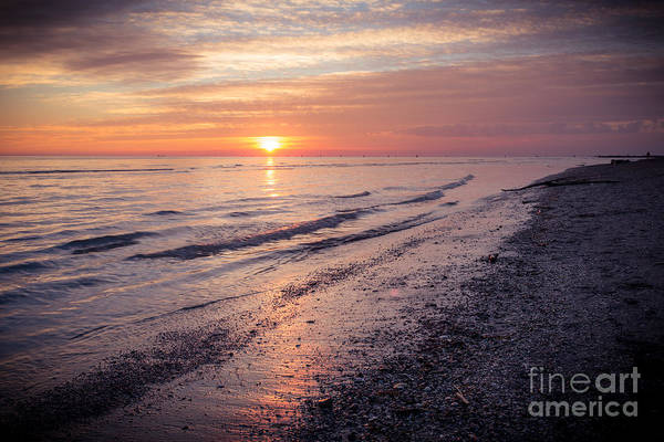 Photograph - Winter Sunset At The Beach by Hannes Cmarits