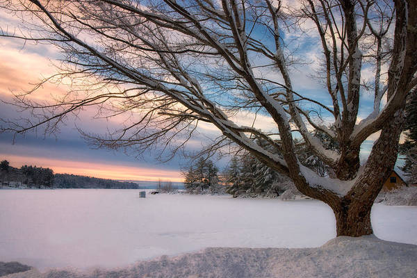 Photograph - Winter Sunset On Long Lake by Darylann Leonard Photography