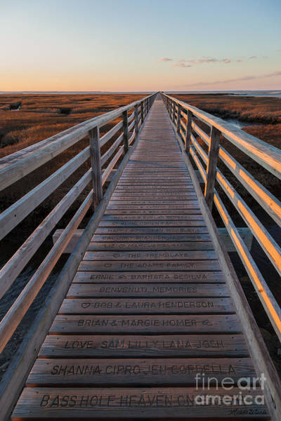 Photograph - Winter Sunset On The Boardwalk At Bass Hole by Michelle Constantine