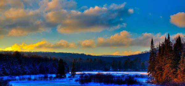Photograph - Winter Sunset On The Moose River by David Patterson