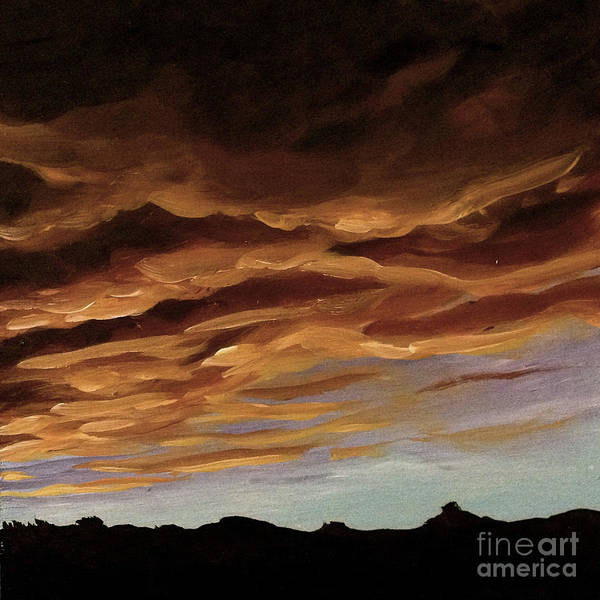 Painting - Winter Sunset by Ric Nagualero