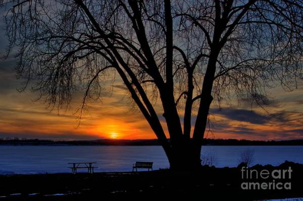 Photograph - Winter Sunset by Rod Best