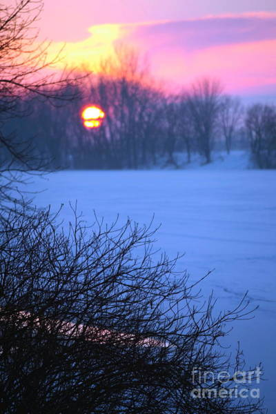 St Ignace Wall Art - Photograph - Winter Sunset by Sophie Vigneault
