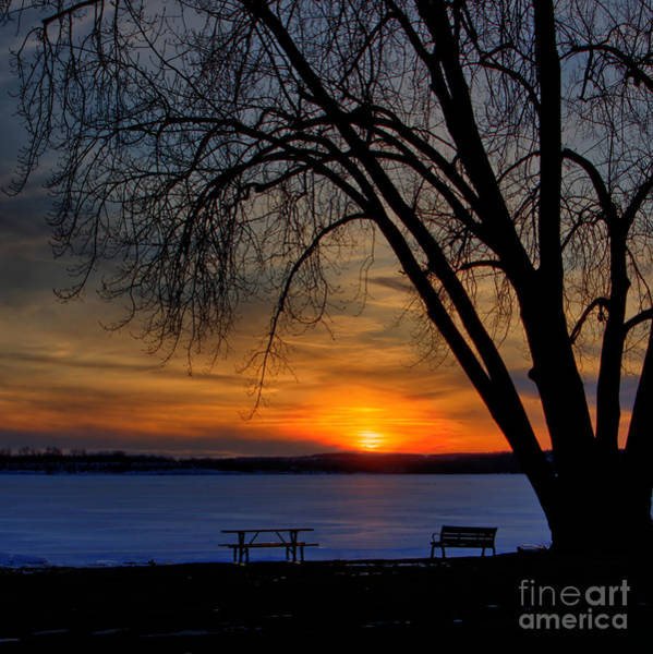 Photograph - Winter Sunset - Square by Rod Best