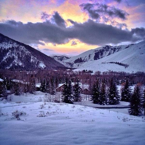 Wall Art - Photograph - #winter #sunsets #ketchum #idaho by Cody Haskell
