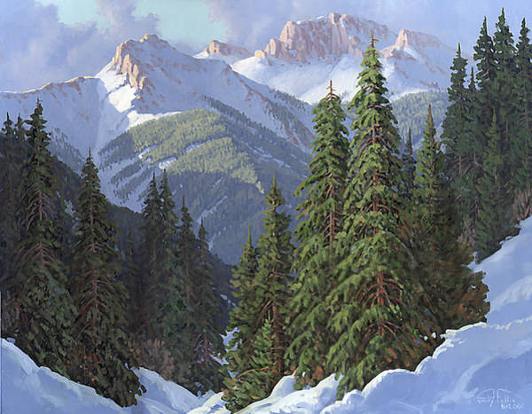 Follis Wall Art - Painting - Winter Sunshine by Randy Follis