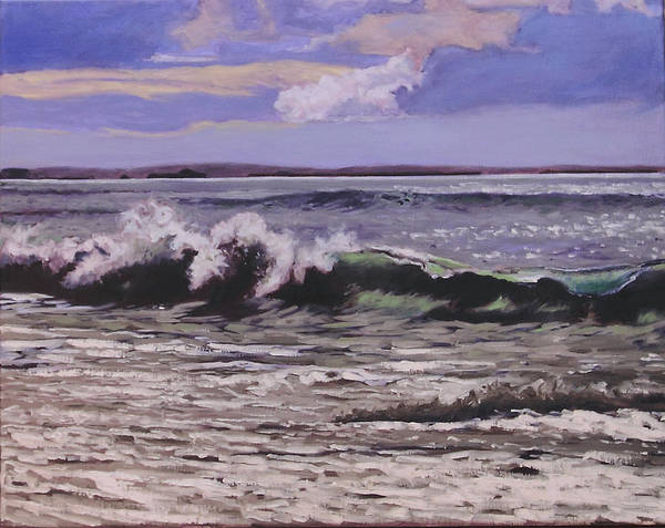 Painting - Winter Surf by Rob Owen