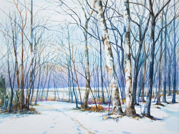 Sycamore Painting - Winter Sycamore Tamanend Park by Patricia Allingham Carlson