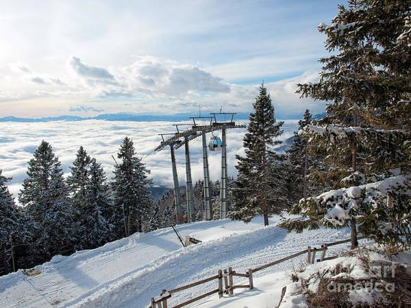 Ropeway Photograph - Winter Transportation by Sinisa Botas