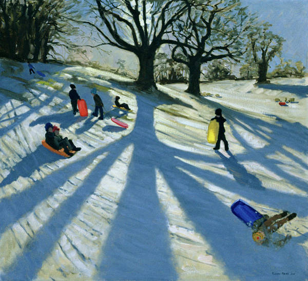 Sledge Wall Art - Painting - Winter Tree by Andrew Macara