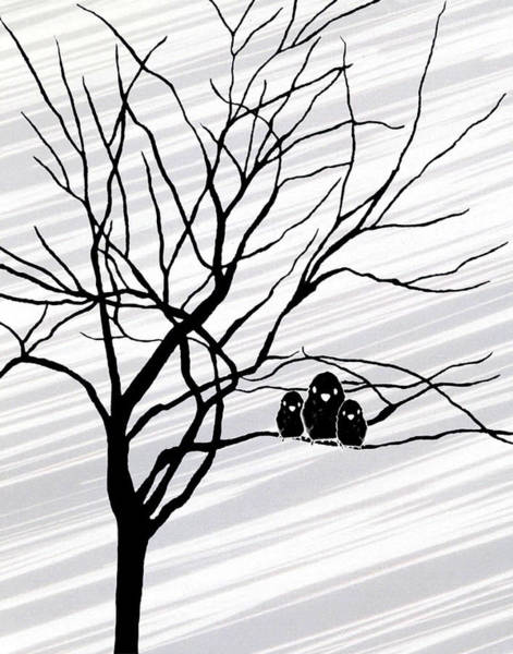 Digital Art - Winter Tree White by Natasha Marco