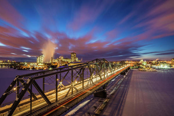 Quebec City Photograph - Winter Twilight Across Alexandra Bridge by Wichan Yingyongsomsawas