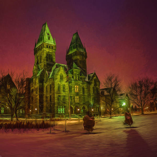 Photograph - Winter Twilight At Buffalo Psych Center N1 by Chris Bordeleau